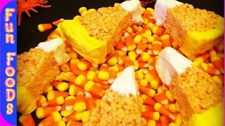 [Candy Corn Rice Crispy Treats (Halloween Treats)] Video