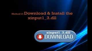 How To Fix Xinput1_3.dll Error