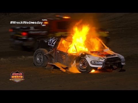 Barron Huge Crash Fire @ 2014 Loorrs Lake Elsinore