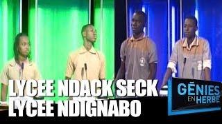 Génies en Herbe : Lycée Ndack Seck de Thiès VS Lycée Djignabo de Ziguinchor