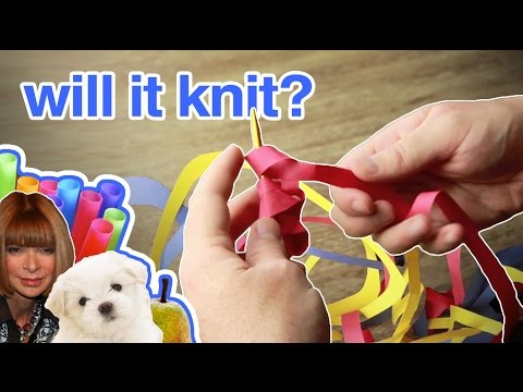 WILL IT KNIT? Knitting With Paper