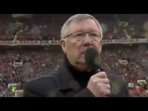 Sir Alex Ferguson addresses fans following David Moyes' dismissal (Paul Reid)