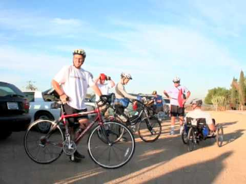 Upper Santa Ana River Trail - Group Ride filmed from my recumbent trike