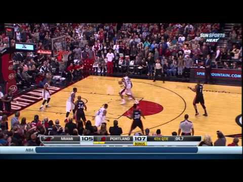Chris Bosh Is The Boss With His Bomb To Beat The Blazers