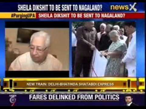 Sheila Dikshit to be sent to Nagaland?