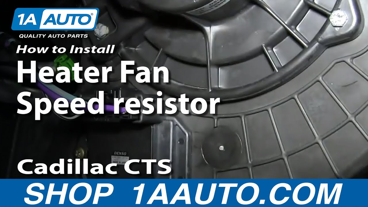 install replace heater ac blower fan speed resistor