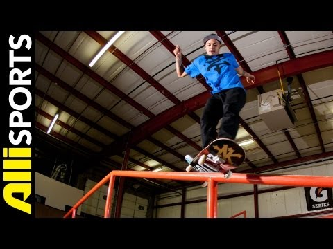 Chaz Ortiz Skateboard Step By Step Frontside Feeble Grinds Trick Tip