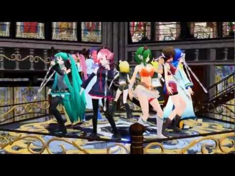 [8 Vocaloid + 1 UTAU Chorus]Romeo & Cinderella[MMD]