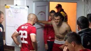 Pogledajte kako fudbaleri u Jajcu proslavljaju pobjedu