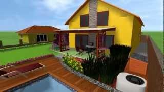 3D prezentácia záhrady - ráno