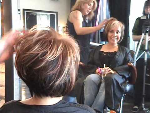 Part 2 of 2 Layered Angled Modern Bob Hair Cut featuring Sharon .wmv