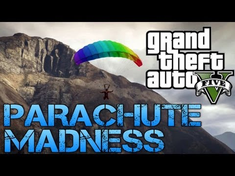 Grand Theft Auto V | PARACHUTE MADNESS | PS3 HD Gameplay