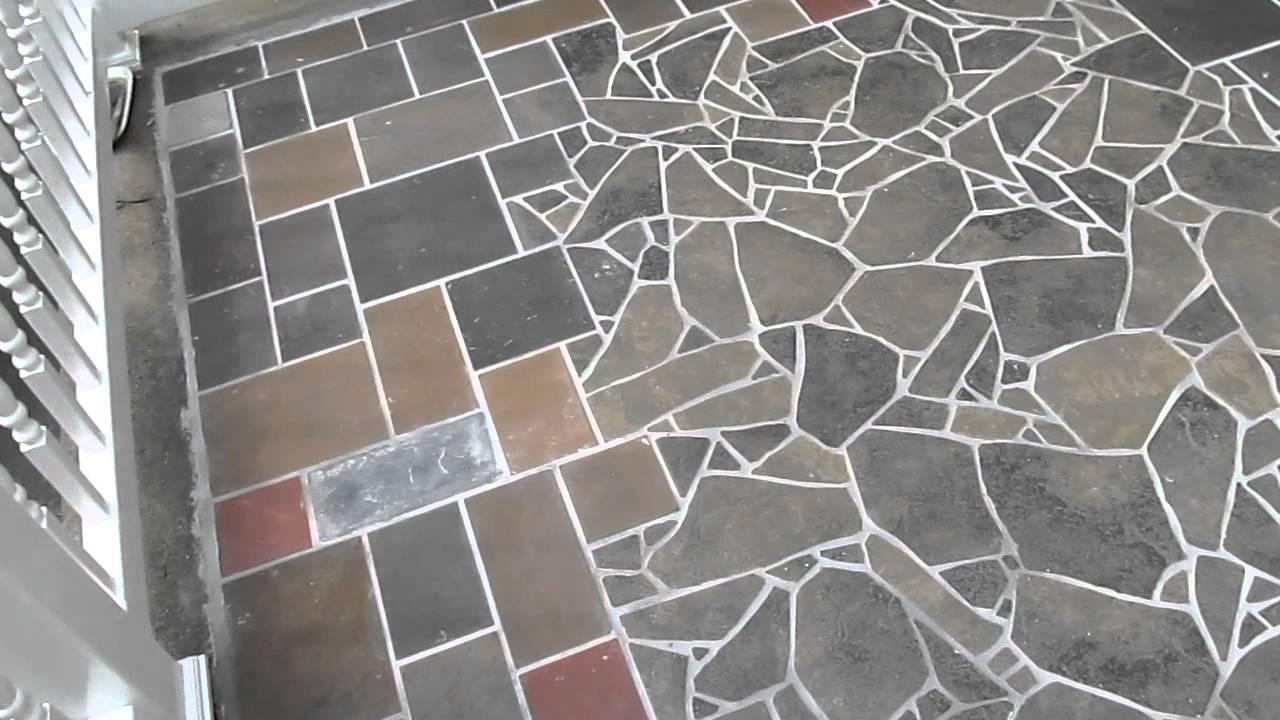 Slate Amp Tile Mosaic Patio In Albany Youtube