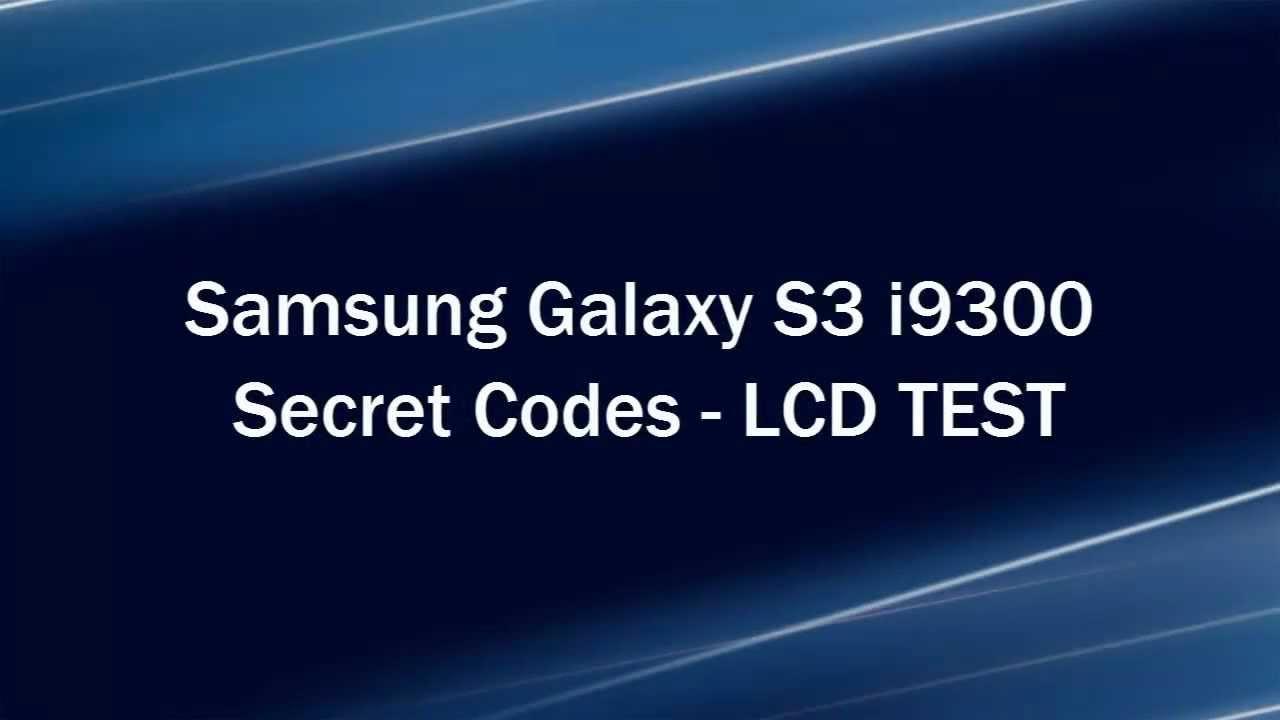 Enable Hidden Menus Galaxy S3