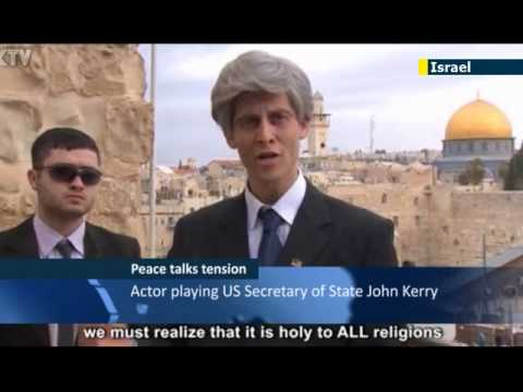 Israeli video satire lampoons John Kerry peace efforts: hardliners poke fun at Kerry proposals