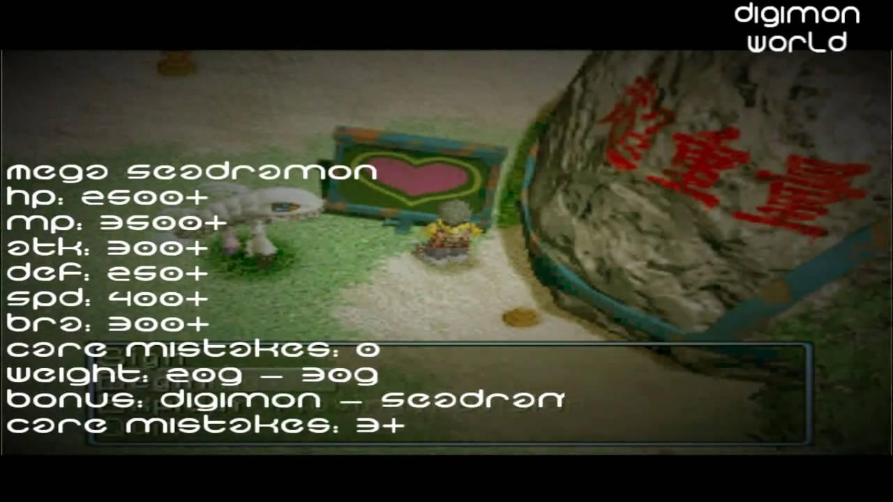 Digimon World - MegaSeadramon Digivolution - YouTube
