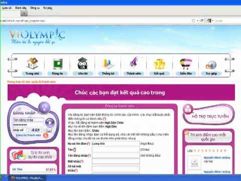 Hướng dẫn đăng ký tài khoản giải toán trên mạng Violympic