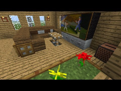Tutorial como decorar tu sala en minecraft youtube for Como decorar tu sala
