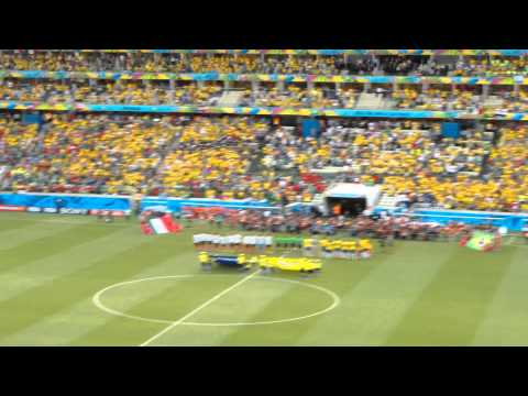 Himno Mexicano - Brasil vs Mexico - World Cup 2014