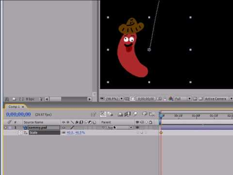 tutorial: After Effects Tutorial - 7 - Animating Scale