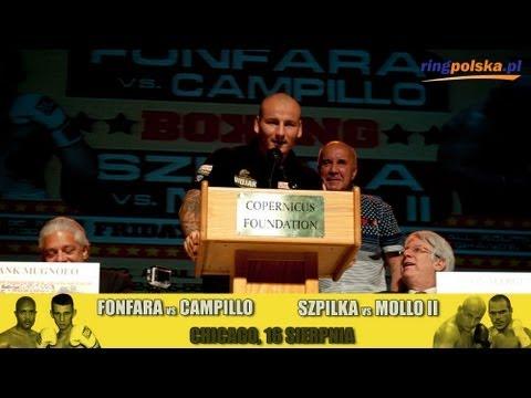 Artur Szpilka i Mike Mollo na konferencji prasowej przed rewanżem