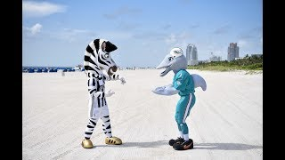 Juventus Invaders | Two mascots in Miami!