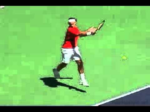 Cú đánh thuận tay kết thúc dưới vai của Federer