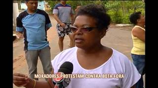 Moradores protestam contra bota-fora que vem tirando o sossego em Juiz de Fora