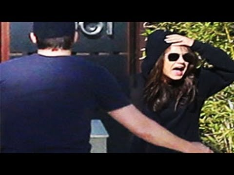 Mila Kunis Yells At Paparazzi -- Ashton Kutcher Tries To Calm Her Down