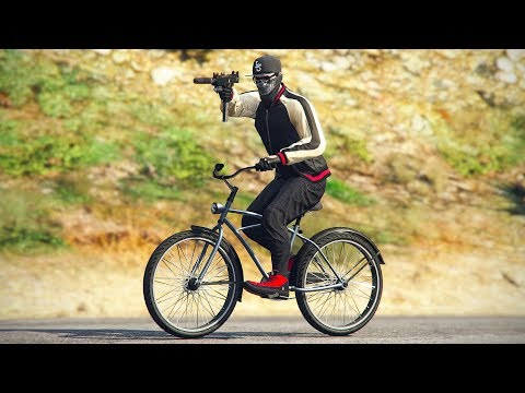 DRIVE-BY ON A BICYCLE - GTA 5 ONLINE Funny Moments