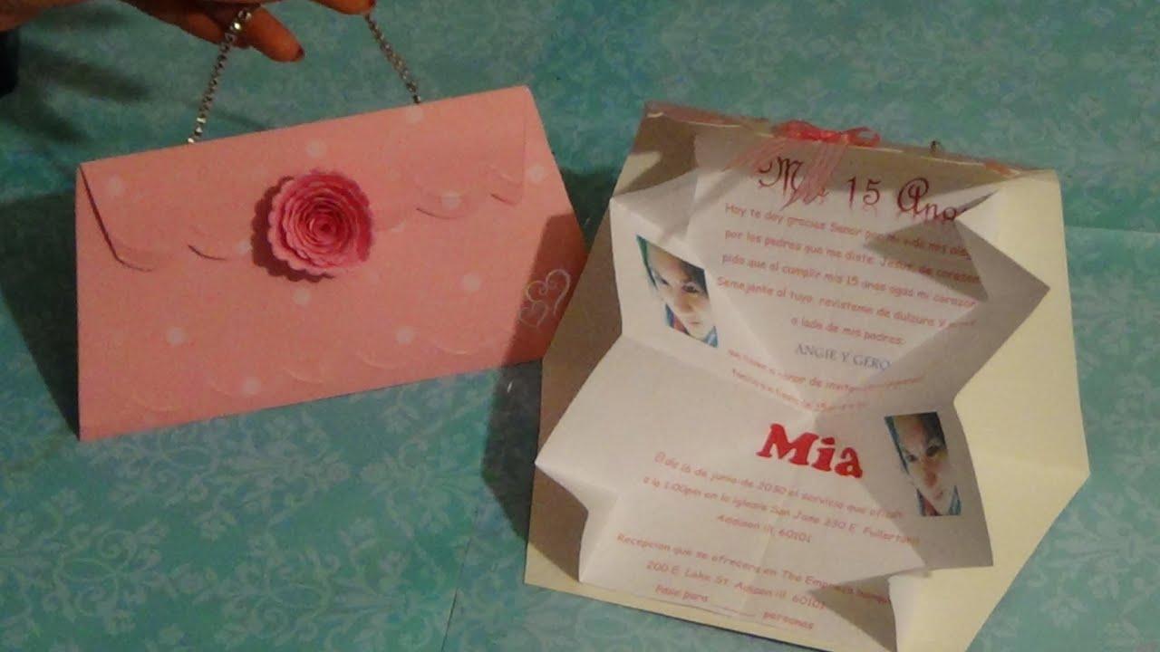 Invitaciones para 15 a os 3 a os etc originales y facil - Como hacer tarjetas navidenas originales ...