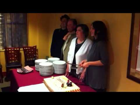 Michelle Zei cake cutting