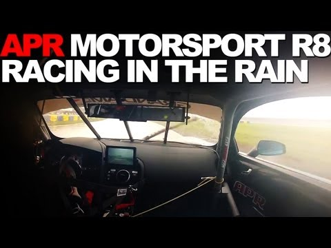 APR Motorsport R8: Dion Von Moltke in the Rain at Homestead
