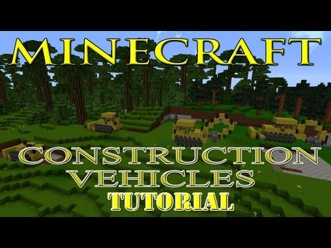 Minecraft Construction Vehicles Tutorial (Bulldozers, Back Hoe, Paver, Steam Roller and Dump Trucks)