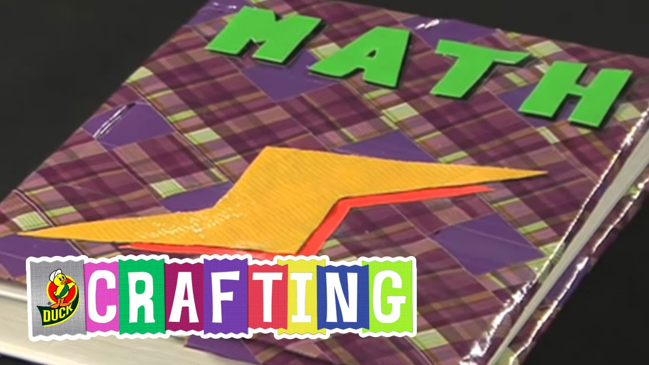 How To Make A Book Cover With Duct Tape : Duck tape crafts how to make a book cover youtube