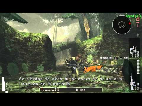 Metal Gear Solid Peace Walker no emulador PPSSPP