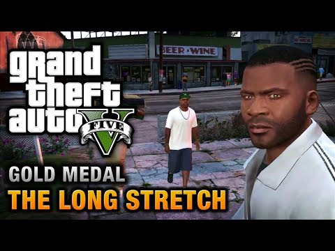 GTA 5 - Mission #9 - The Long Stretch [100% Gold Medal Walkthrough],