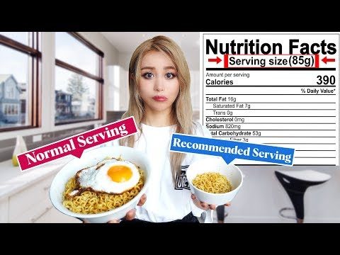 Only Eating Recommended Serving Sizes for 24 hours! | *This was surprising*