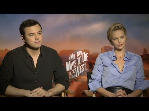 Seth MacFarlane & Charlize Theron - A Million Ways to Die in the West Interview HD