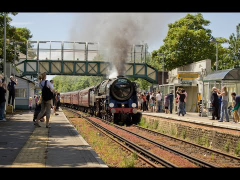 Britannia no.70013 'Oliver Cromwell' with 'The Seaford to Brighton 150' Saturday 7th June 2014
