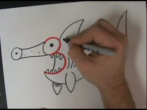 Drawing sea animals with numbers what the 3 becomes youtube