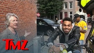 Chris Brown -- Can't Contain Himself as a Local Woman Rats Him Out   TMZ