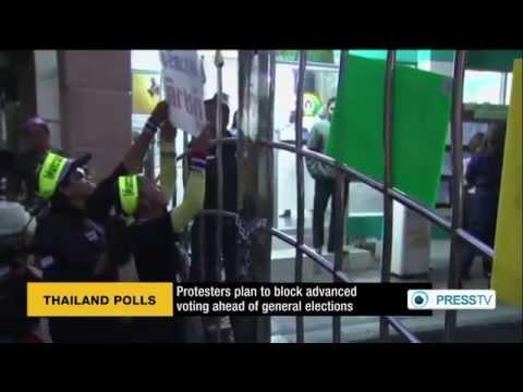 กำนันสุเทพ Thailand Protesters block polling stations in Bangkok