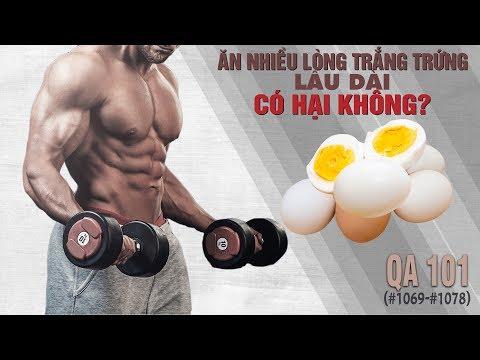 Hỏi đáp thể hình 101 - Ăn nhiều lòng trắng trứng lâu dài có hại gì không?