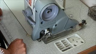 How To Use The Bobbin Winder On An Industrial Sewing