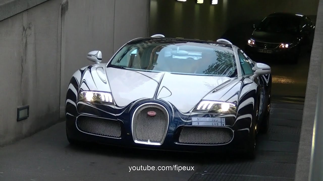 bugatti veyron l 39 or blanc in the street of paris youtube. Black Bedroom Furniture Sets. Home Design Ideas