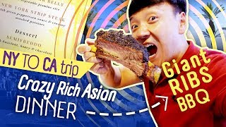 GIANT Beef Ribs, VIETNAMESE NOODLES & Crazy Rich Asian Dinner