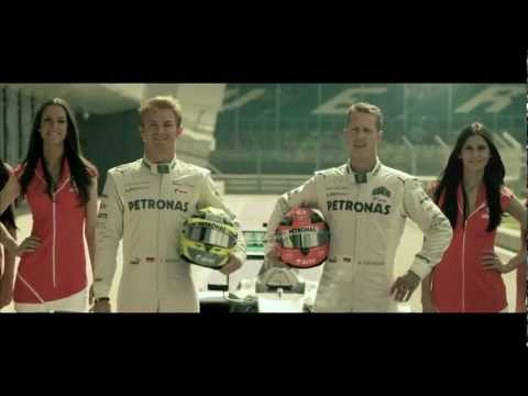 2012 Airtel Indian Grand Prix TVC   Let Your Heart Race   Michael Schumacher & Nico Rosberg