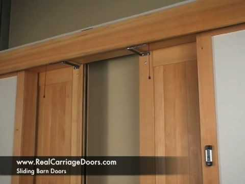 Sliding Barn Carriage Garage Door Openers YouTube