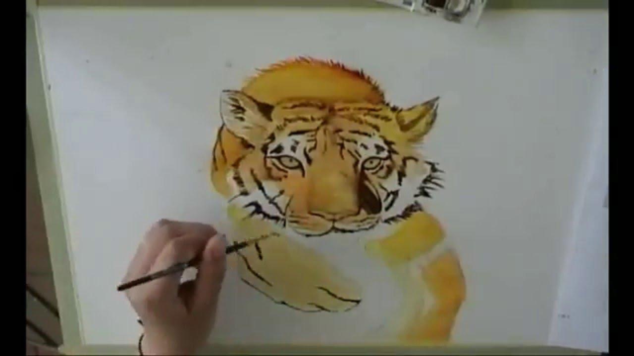 Come disegnare una tigre 2 youtube for Immagini di clown da colorare